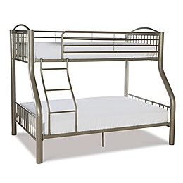 Powell Parilla Twin Over Full Metal Bunk Bed in Pewter