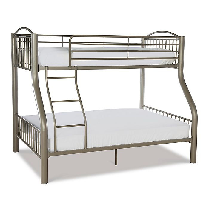 Alternate image 1 for Powell Parilla Twin Over Full Metal Bunk Bed in Pewter
