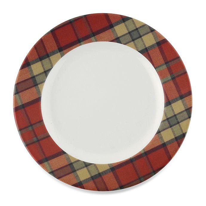 Alternate image 1 for Spode® Glen Lodge Tartan Red Dessert Plate (Set of 4)
