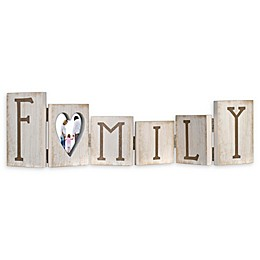 Malden® 3-Inch x 4-Inch Hinged Family Letters Picture Frame in Distressed White