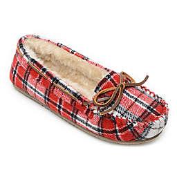Minnetonka® Cally Plaid Women's Slippers in Red