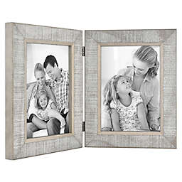 Bee & Willow™ Home 2-Photo Hinged Picture Frame in Grey