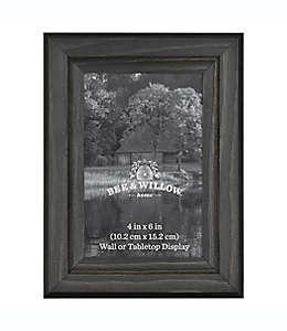 Portarretratos con marco de madera Bee & Willow™ Home color negro oxford