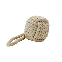 One Kings Lane Open House™ Rope Ball Door Stopper in White