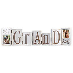Malden® Hinged Grandkis Letters Picture Frame in Distressed White