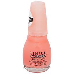 Sinful Colors® 0.5 fl. oz. Sheer Matte Nail Polish in Hot & Hazy 2758