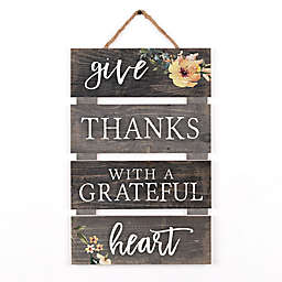 P. Graham Dunn Give Thanks 10-Inch x 15.5-Inch Pallet Wood Wall Art