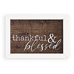 P. Graham Dunn Thankful & Blessed Framed Wood Wall Art