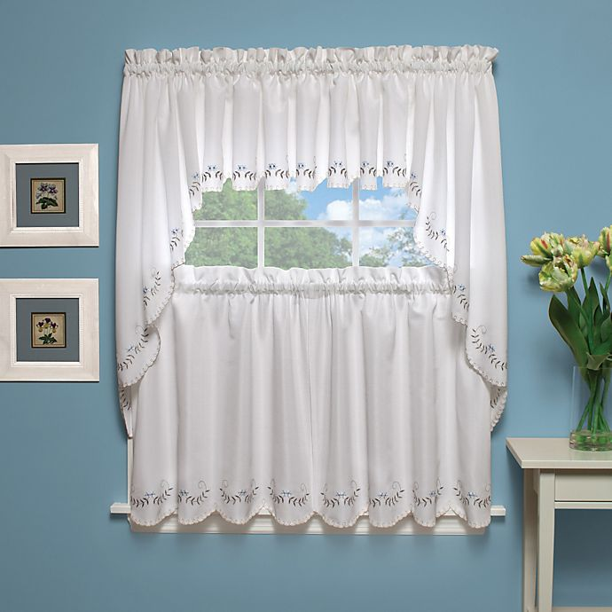 Buy Forget-Me-Not 38-Inch Window Curtain Swag Pair In