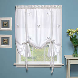 Forget-Me-Not 63-Inch Tie-Up Shade in White/Blue