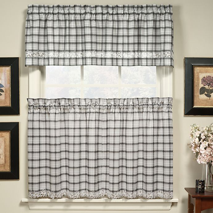 Alternate image 1 for Dover Window Curtain Valance in Black