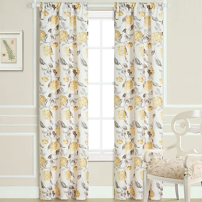 Alternate image 1 for Laura Ashley® Hydrangea Window Curtain Panel Pair