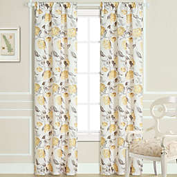 Laura Ashley Hydrangea Window Curtain Panel Pair