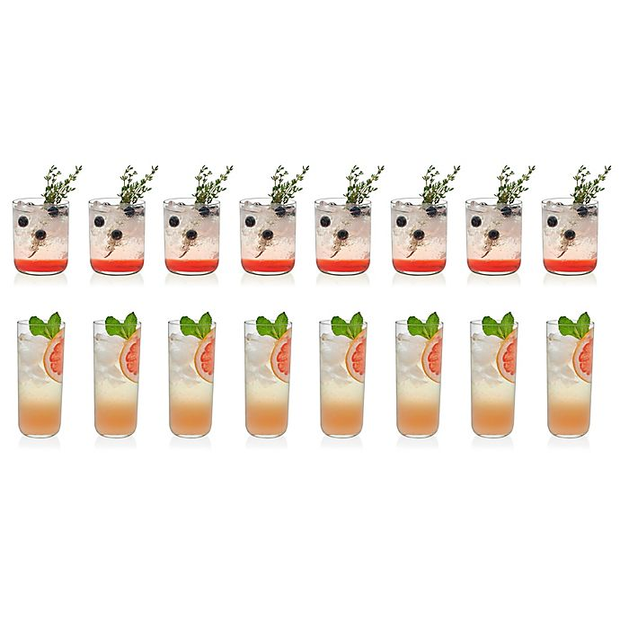 Alternate image 1 for Libbey® Lisbon 16-Piece Glass Drinkware Set
