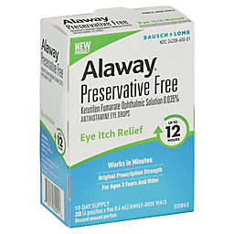 Bausch + Lomb Alaway® 20-Count Preservative-Free Eye Itch Relief Vials