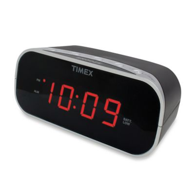 Timex 174 Alarm Clock With 0 7 Inch Red Display Bed Bath
