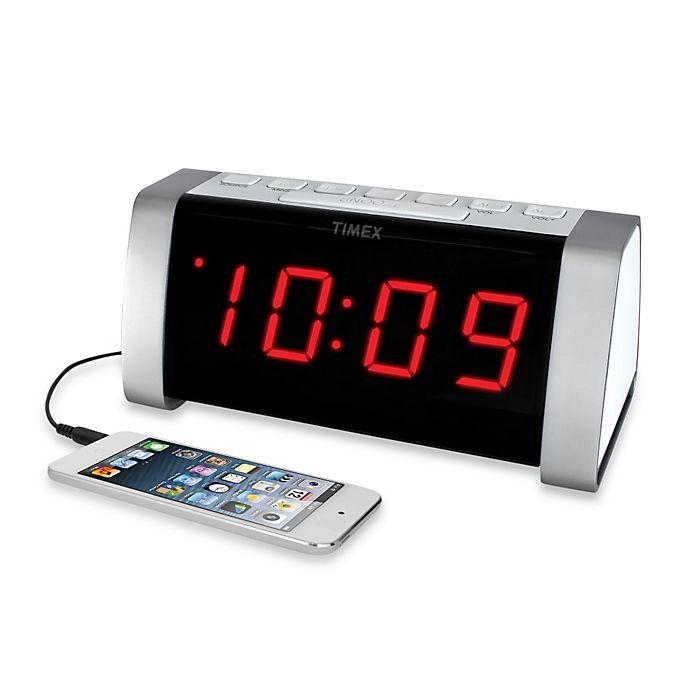 Timex 174 Am Fm Jumbo Display Dual Alarm Clock Radio In White