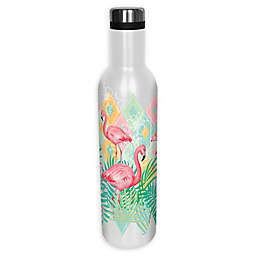 Flamingo Insulated Wrap Water Bottle with Lid