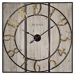 Bulova Vermont Country 45-Inch Wall Clock in Gold
