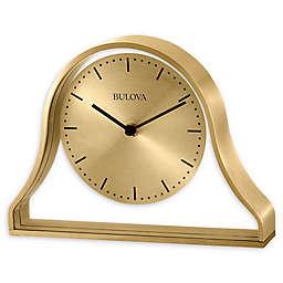 Bulova Bonita Tabletop Clock in Brass