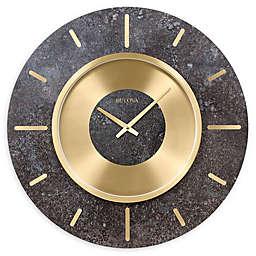 Bulova Chicago 23-Inch Round Wall Clock in Brass