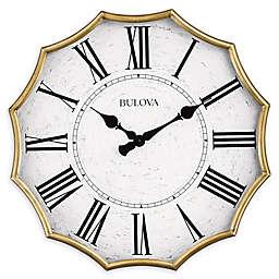 Bulova Scalloped 28.5-Inch Wall Clock in Gold