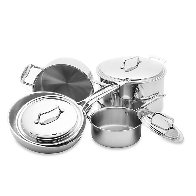 Alternate image 1 for USA Pan 5-Ply Stainless Steel 8-Piece Cookware Set
