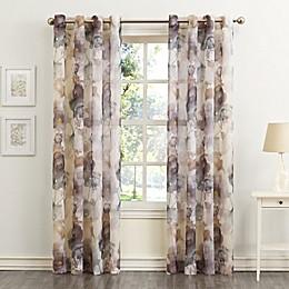 No.918® Andorra Crushed 95-Inch Grommet Sheer Window Curtain Panel