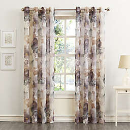 No.918® Andorra Crushed 95-Inch Grommet Sheer Window Curtain Panel