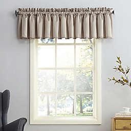 Sun Zero® Bella Room Darkening 18-Inch Rod Pocket Curtain Valance in Stone