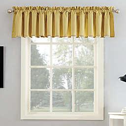 Sun Zero® Bella 18-Inch Rod Pocket Room Darkening Curtain Valance in Flax