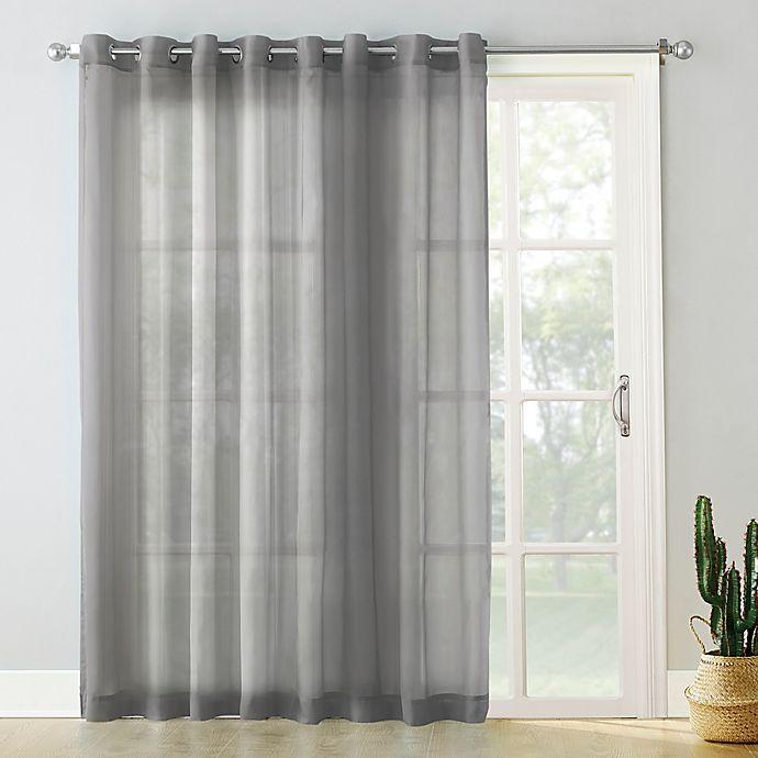 No 918 Emily Voile 84 Inch Grommet Sliding Patio Door Curtain Panel Bed Bath Beyond