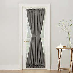 Sun Zero® Bella 72-Inch Rod Pocket Room Darkening Door Panel in Steel (Single)