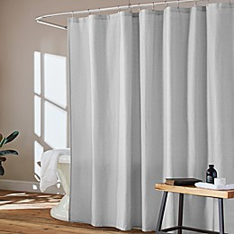 ED Ellen Degeneres Textured Block Textured Block Shower Curtain in Turtle Dove