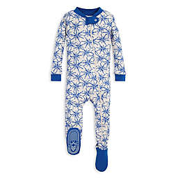 Burt's Bees Baby® Icy Snowflakes Organic Cotton Footie in Blue/Ivory
