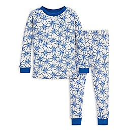 Burt's Bees Baby® Icy Snowflakes Organic Cotton Toddler Pajama Set in Blue/Ivory