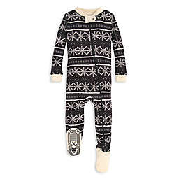 Burt's Bees Baby® Frozen Fair Isle Organic Cotton Sleeper in Black/Ivory