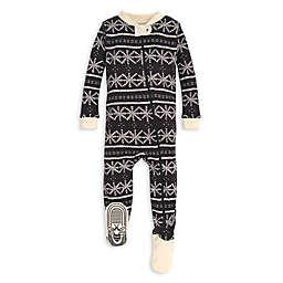 Burt's Bees Baby® Frozen Fair Isle Organic Cotton Sleeper in Black/Ivory