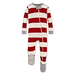 Burt's Bees Baby® Rugby Stripe Organic Cotton Sleeper in Red/Ivory