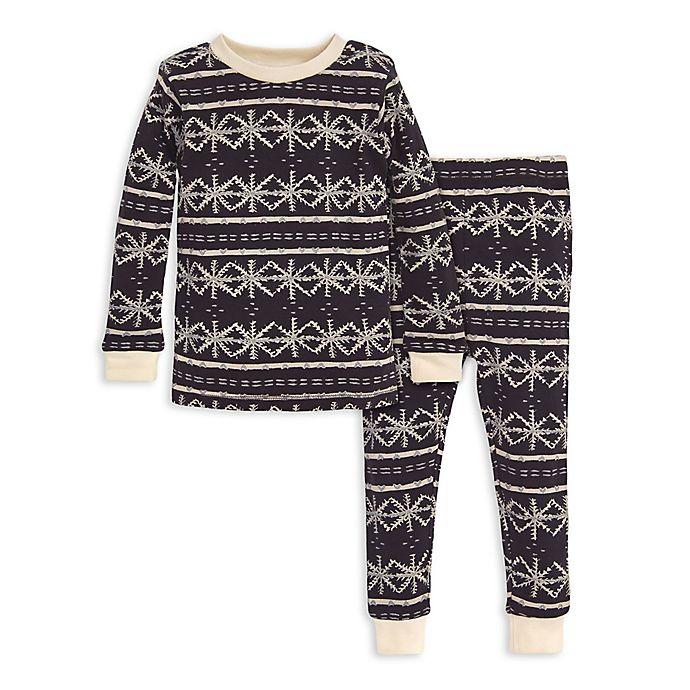 Alternate image 1 for Burt's Bees Baby® 2-Piece Frozen Fair Isle Organic Cotton Toddler Pajama Set