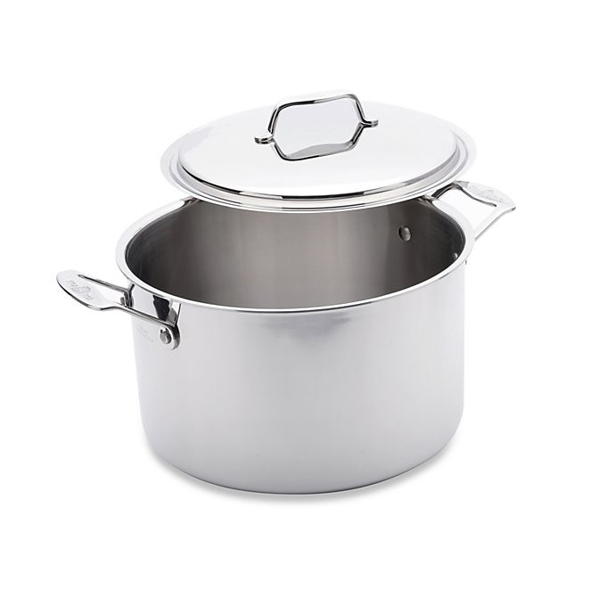 Alternate image 1 for USA Pan 5-Ply Stainless Steel 8 qt. Covered Stockpot