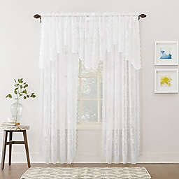 No.918™ Alison Lace Scalloped Rod Pocket Sheer Window Curtain Panel Collection