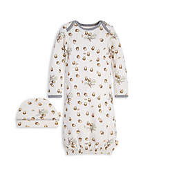 Burt's Bees Baby® Size 0-6M 2-Piece Acorn Organic Cotton Gown and Cap Set
