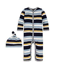 Burt's Bees Baby® 2-Piece Horizontal Stripe Organic Cotton Coverall and Hat Set