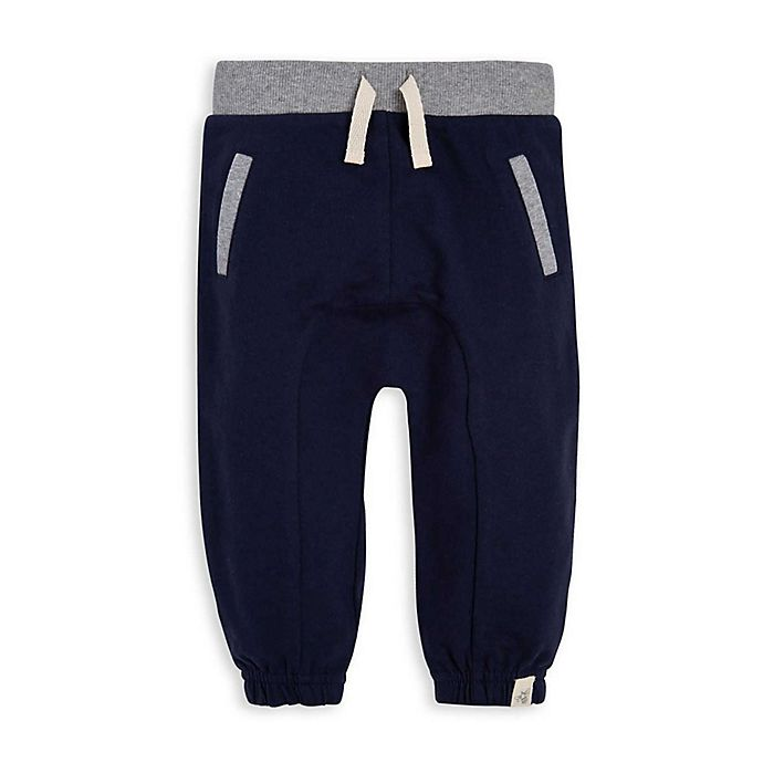 Alternate image 1 for Burt's Bees Baby® French Terry Organic Cotton Jogger in Blue