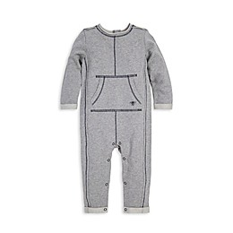Burt's Bees Baby® Raw Edge Organic Cotton Coverall in Grey