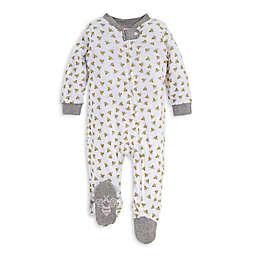 Burt's Bees Baby® Honey Bee Organic Cotton Footie in White/Grey