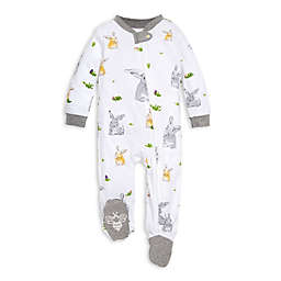 Burt's Bees Baby® Newborn Bunny Trail Footie in White