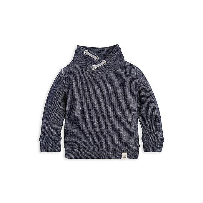 Alternate image 1 for Burt's Bees Baby® Loose Pique Applique Organic Cotton Sweatshirt