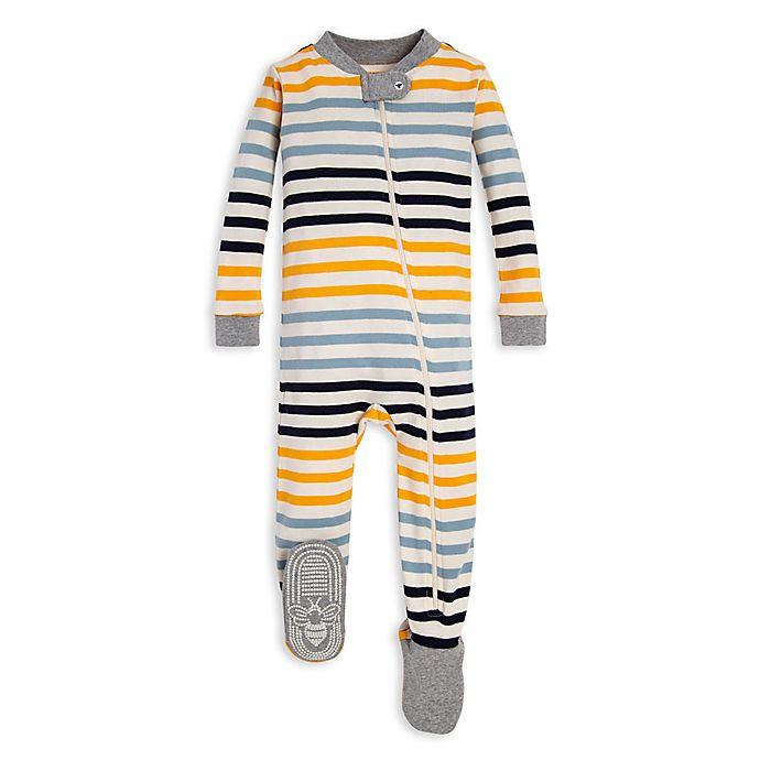Alternate image 1 for Burt's Bees Baby® Tri-Stripe Organic Cotton Toddler Footed Pajama